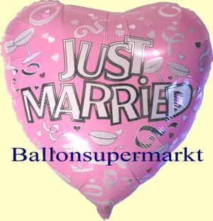 Hochzeitsballon Just Married Herz