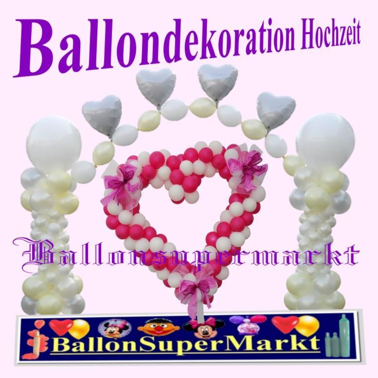 Ballondekoration Hochzeit, Dekoration aus Ballons zu Hochzeiten